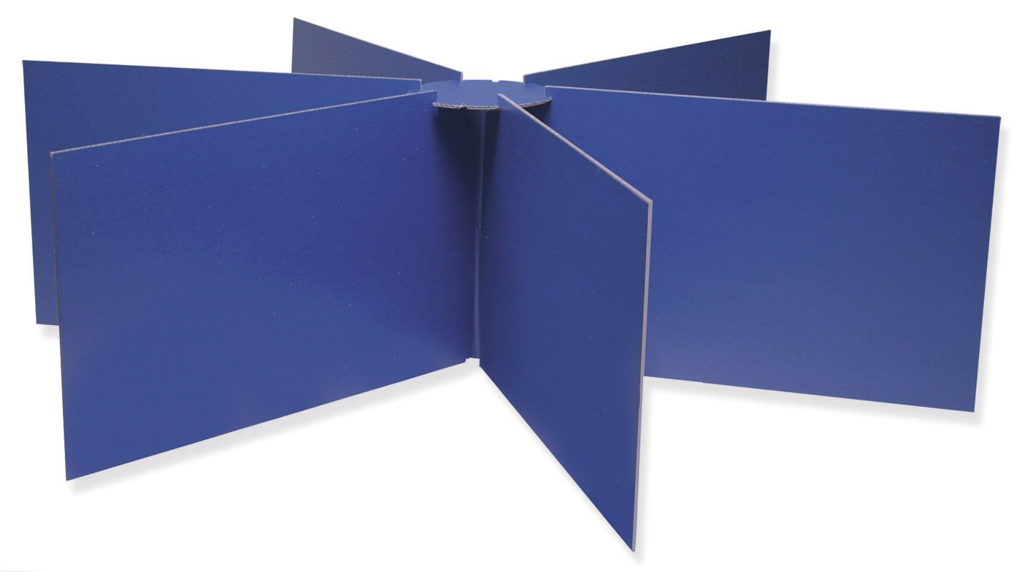 Round school table - Amazon Com Pacon Round Table Privacy Boards 48 Diameter X 14 High Blue Paper Racks And Stands Office Products