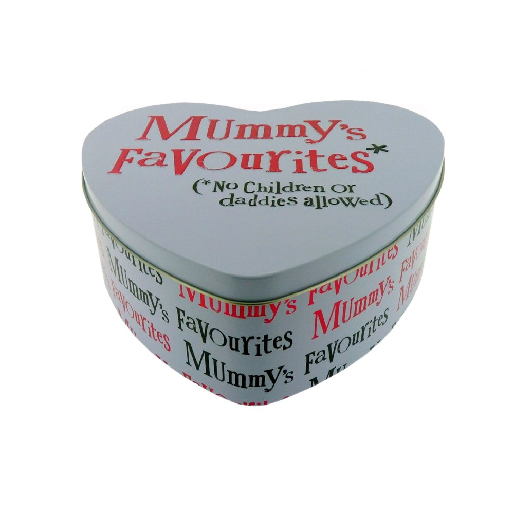 The Bright Side Mummys Favourites Heart shaped tin