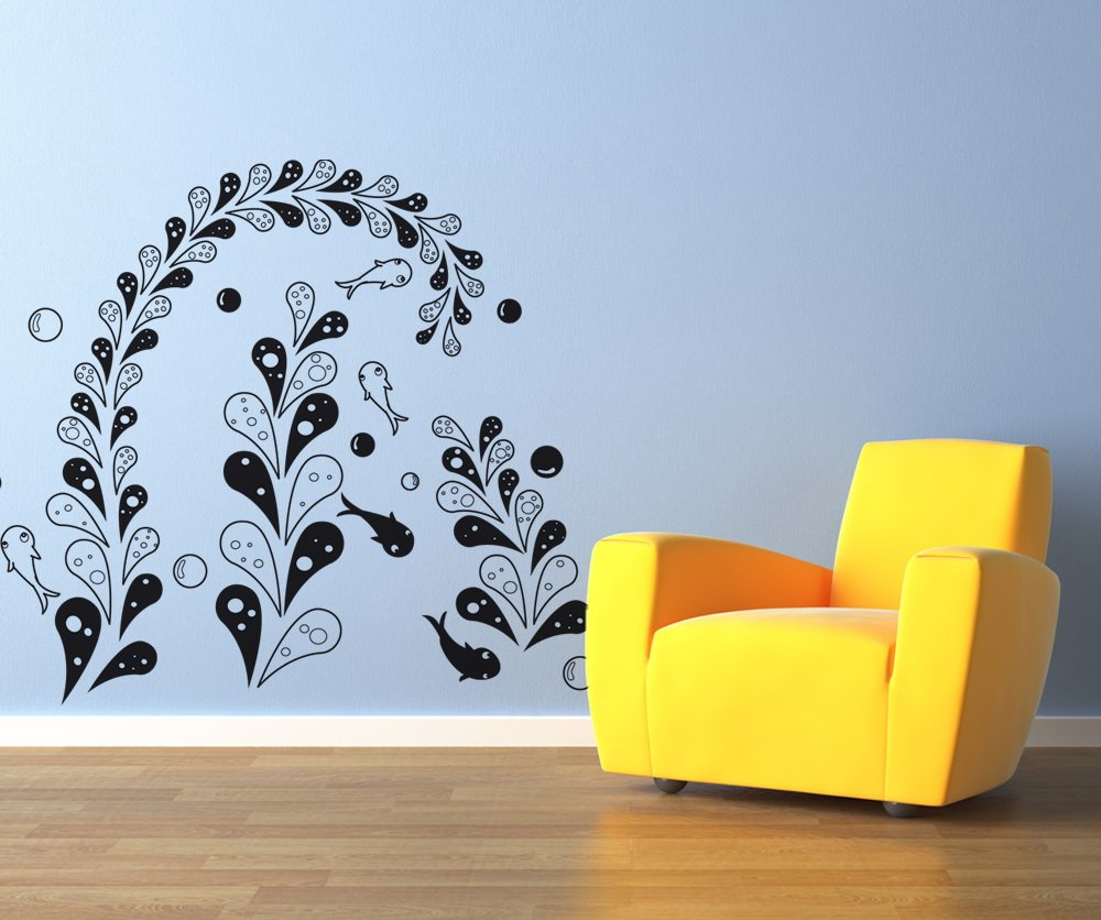 amazon com vinyl wall decal sticker fish in the seaweed os dc333b amazon com vinyl wall decal sticker fish in the seaweed os dc333b home kitchen