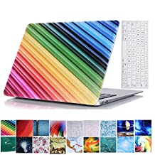 MacBook Pro 13 Retina Case and Keyboard Protector,YiLin Hard Case With Keyboard Cover Skin For MacBook Pro 13 inch with Retina Display (Model: A1502/A1425),Colored Stripes