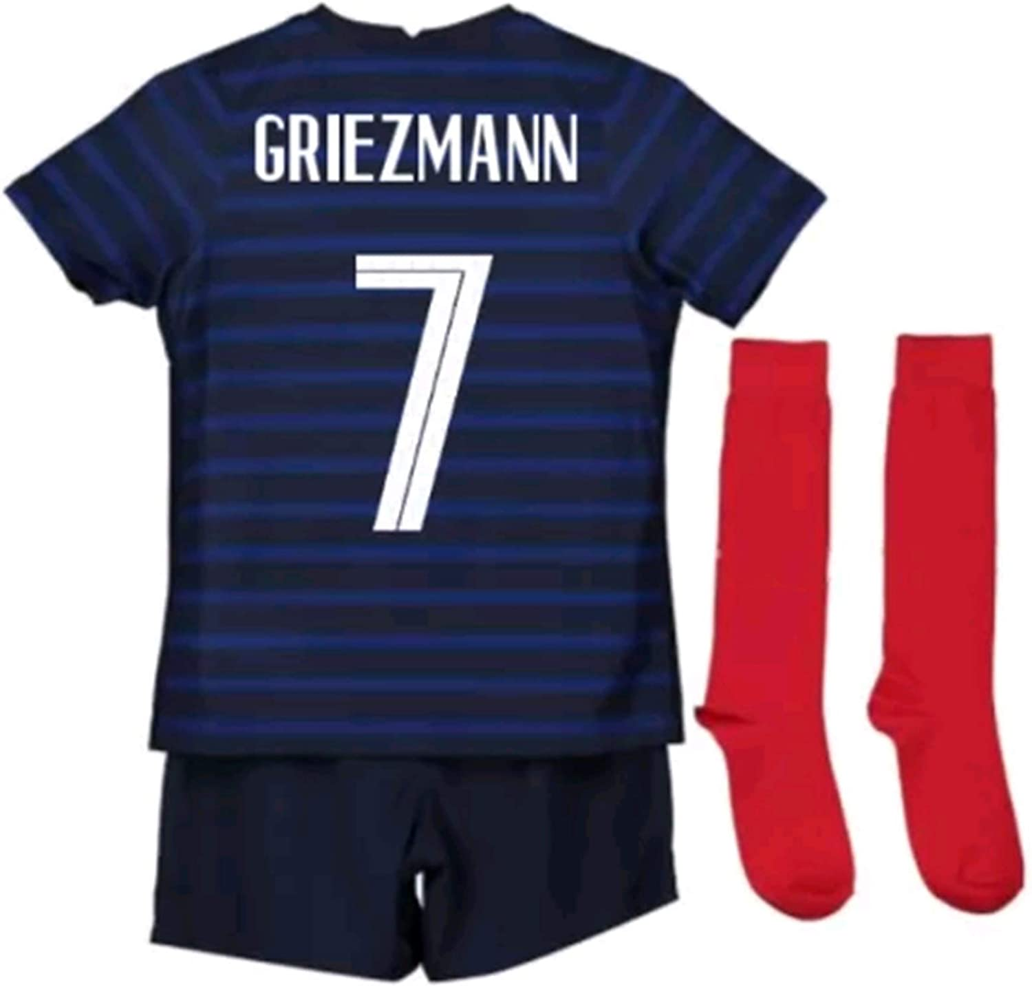 LISIMKEM 2020-2021 Kids/Youths Home Soccer Jersey/Short/Socks Colour Blue