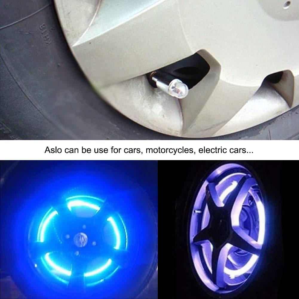 Spoke Flashing Lights Colorful Wheel Valve Lamp for Bicycle Motorcycle CJRSLRB 2Pcs Bike Wheel LED Lights Car Waterproof LED Wheel Tire Light Tire Valve Led Light
