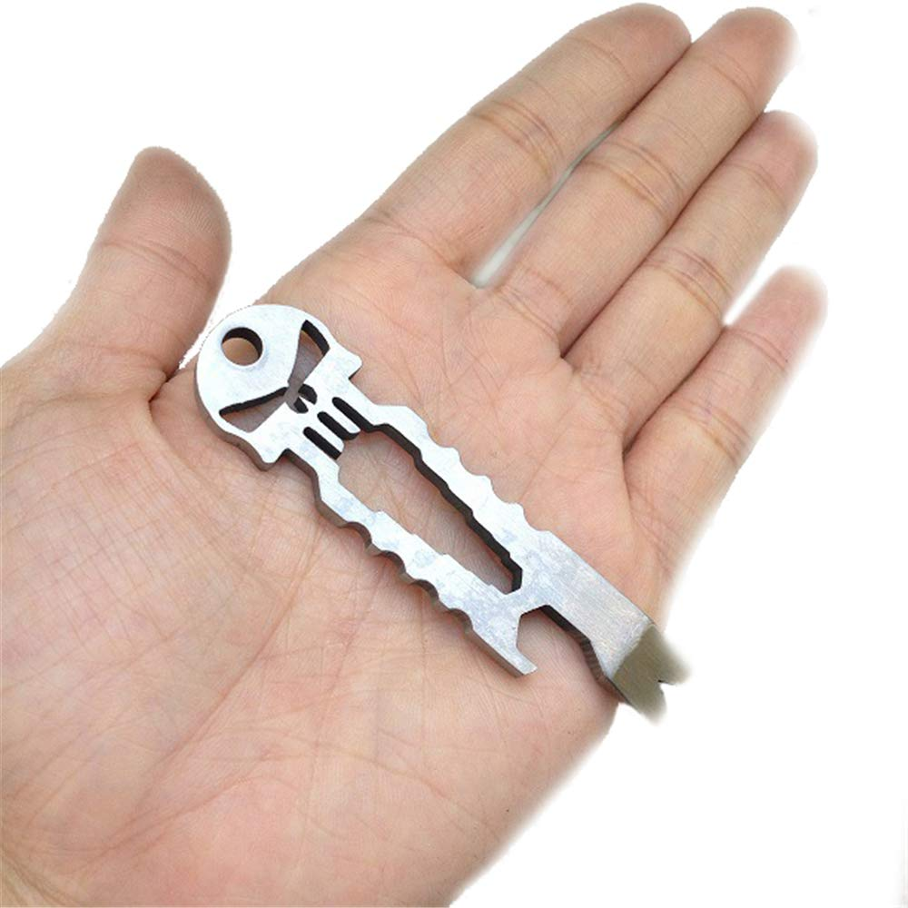 Colorful Anytec EDC Multifunction Key Chain Stainless Steel Tactical Travel Outdoor Camping Survival Utility Pocket Tools