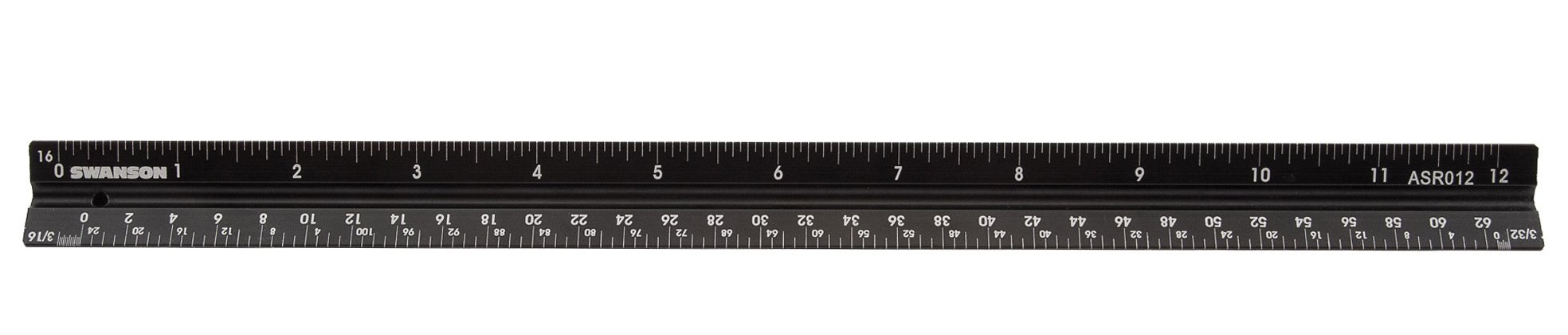 Swanson Tool ASR012 Aluminum Architect's 12'' Scale Rule with Laser-Etched Gradations