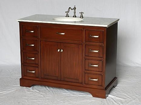 Amazon Com 46 Inch Contemporary Style Single Sink Bathroom Vanity Model 2422 Sk Kitchen Dining