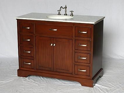 Amazon Com 46 Inch Contemporary Style Single Sink Bathroom