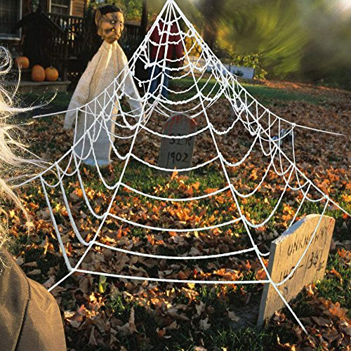 Eerie Halloween Decorations (Super Stretch Spider Web, UBeesize Giant Cobweb Décor Outdoor Halloween Decoration)
