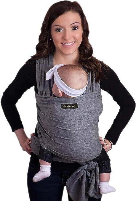 CuddleBug Fular Portabebés – Canguro para Bebés Recién Nacidos y ...