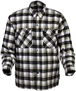 Scorpion Covert Flannel Reinforced/Kevlar Lined Protective Shirt (Black/Yellow, X-Large)