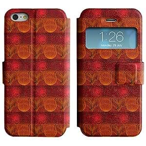 LEOCASE círculos fresco Funda Carcasa Cuero Tapa Case Para Apple iPhone 5 / 5S No.1005449