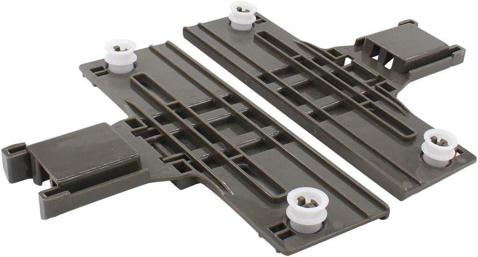ApplianPar 2 Pack W10350375 Dishwasher Upper Top Rack Adjuster w/Steel Screws Replacement for Whirlpool & Kenmore W10250159