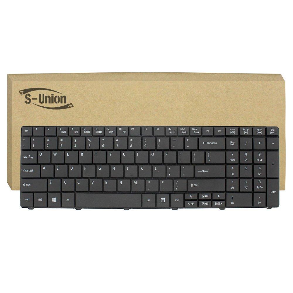 Generic New Black Laptop US Keyboard for Packard Bell Q5WV1 Q5WS1 Q5WTC LE11BZ TE11HC TE11BZ TE11HR EG70 TE69 TE69CX TE69KB Series Part Number 9Z.N3M82.