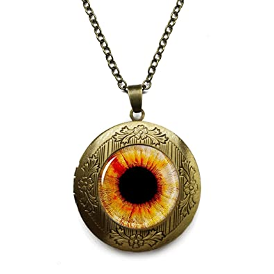 Amazon vintage retro black pupil eyeball pendant necklace vintage retro black pupil eyeball pendant necklace bronze antique jewelry aloadofball Images