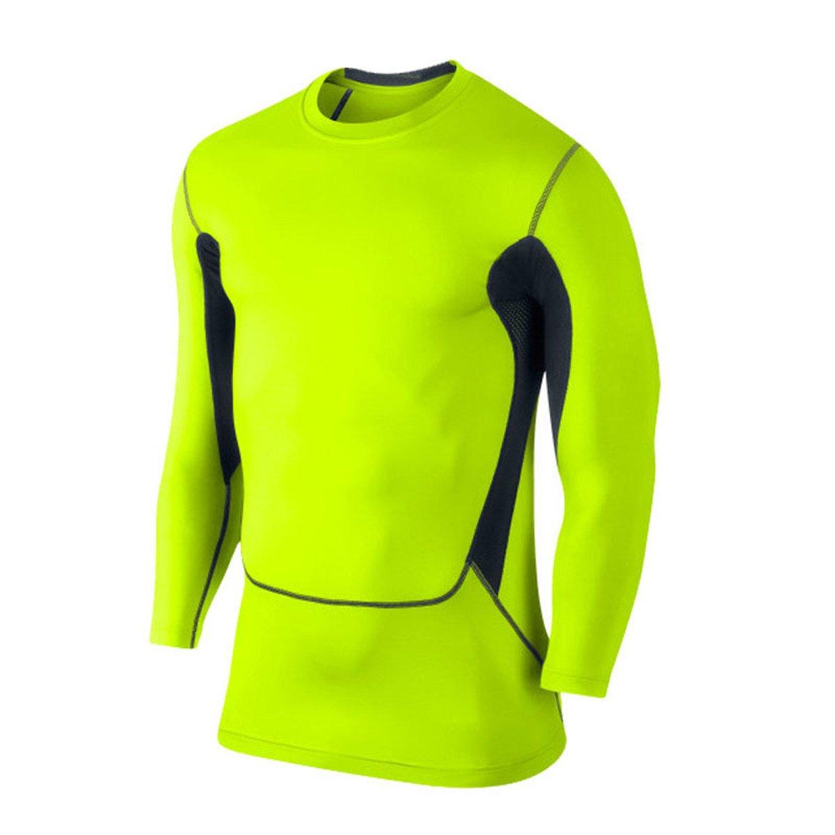 Fluorescentgreen SUPSJD Men's Movement Tight Tight Tight T-shirt 3087cf
