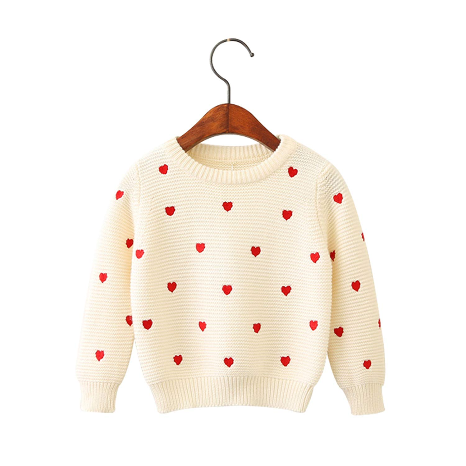 7ef28c3e1c Amazon.com  Sweater for Girls Sweater Fashion Girl Long Sleeved Spring Baby  Girl Knit Pullover Casual Sweaters  Clothing
