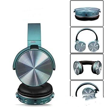 XPFFXX Auricular Bluetooth Ordenador Juego Móvil Auriculares Inalámbricos Reducción De Ruido Tarjeta Plegable con Micrófono, Azul: Amazon.es: Electrónica