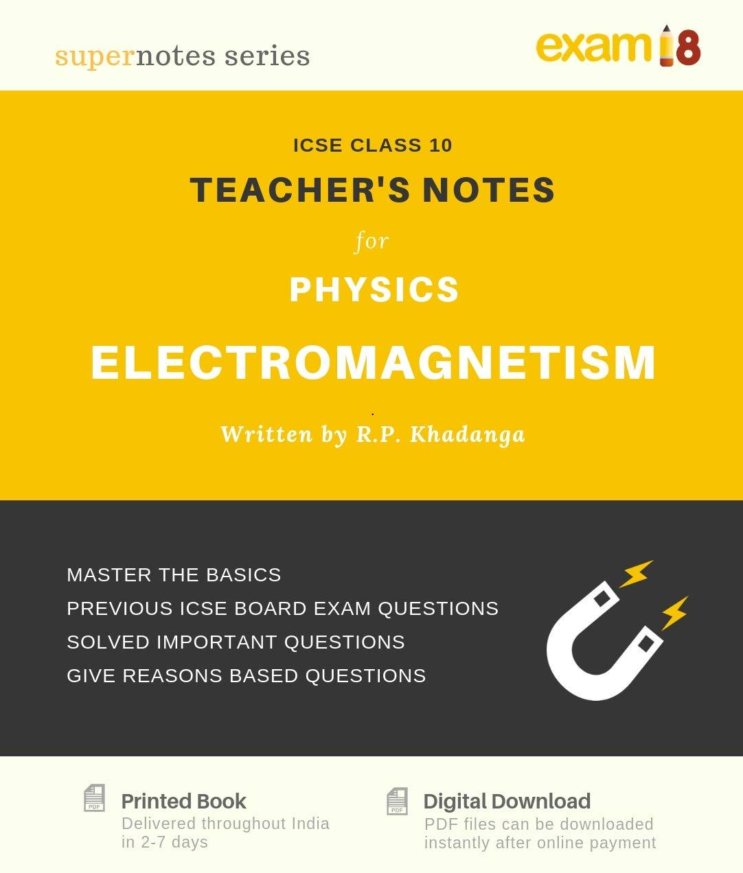 Amazon in: Buy ICSE Physics Teacher's Notes