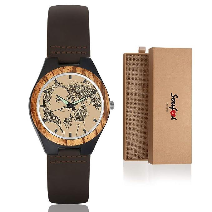 Reloj de Madera Personalizado (con Foto y Grabado)