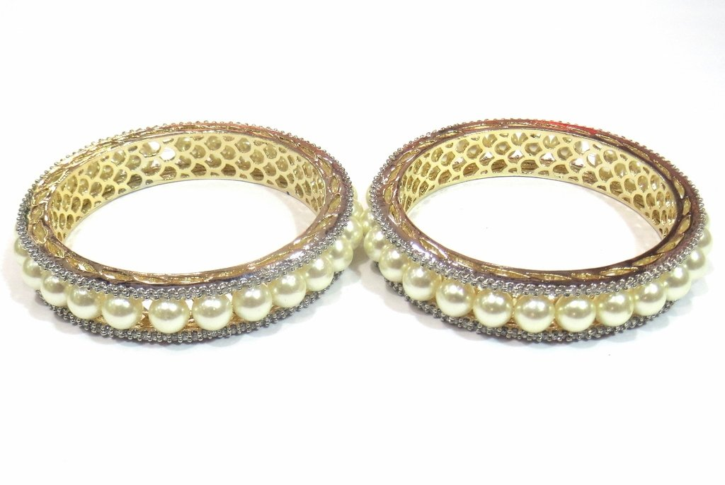Jewelshingar Jewellery Fine Micro Plated Bangles For Girls ( 33182-jb-interchangeable-2.4 ) by Jewelshingar (Image #1)