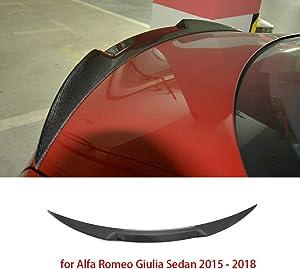 NZ-CJ Carbon Fiber Rear Spoiler Trunk Boot Lip Wing Spoiler for Alfa Romeo Giulia Sedan 2015-2018 Quadrifoglio Verde