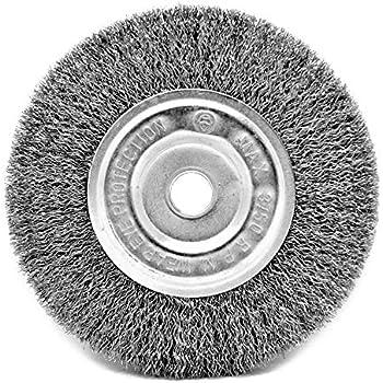 Toolman Crimped Golden Steel Wire Bench Wheel Brush Universal Fit 6