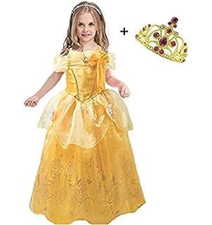 397140cbd702 LiUiMiY Bambine Principessa Costume Gonna + Diadema Abito di Gala Ragazze  Cosplay Tulle Vestito per Festivo