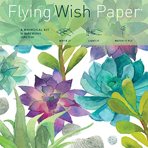 Flying Wish Paper ''Trendy! Succulent Design - CACTUS GARDEN - 5'' x 5'' - Mini Kits by Flying Wish Paper Co.