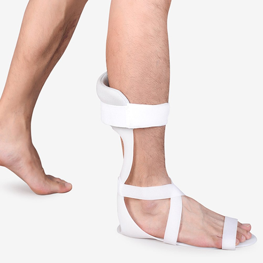 Fivtyily Swedish Ankle Foot Orthosis Support Adjustable Velcro AFO for Foot Rehabilitation (L, Right)