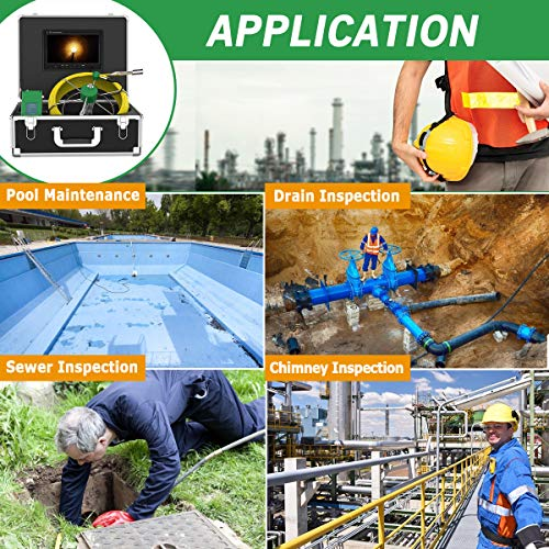 with APP to Take Pictures Video zhangchao 40M Industrial Pipeline Sewer Inspection Video Camera System IP68 Waterproof 1000 TVL Camera