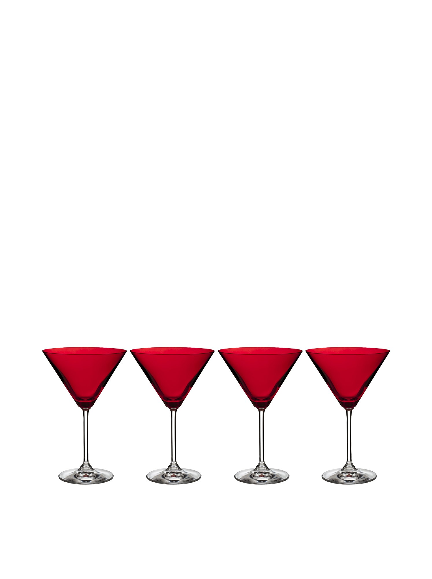 Marquis by Waterford Vintage Martini Glass, Red, Set of 4
