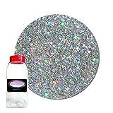 Glitter My World! Fine Glitter Cosmetic Holographic: Star Struck Silver 1 lb Jar