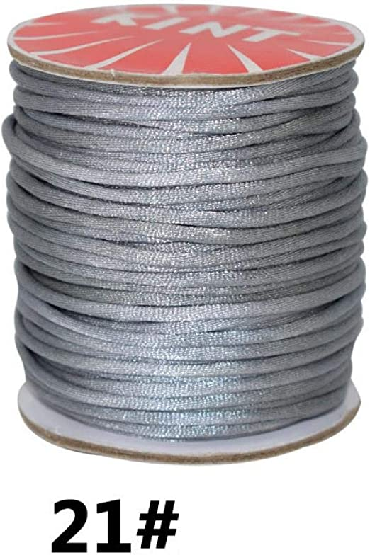 Rollo de hilo de algodón encerado de 1,5 mm para hacer joyería y ...
