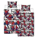 Spiderman Metropolis UK Single/US Twin Unfilled Duvet Cover and Pillowcase Set