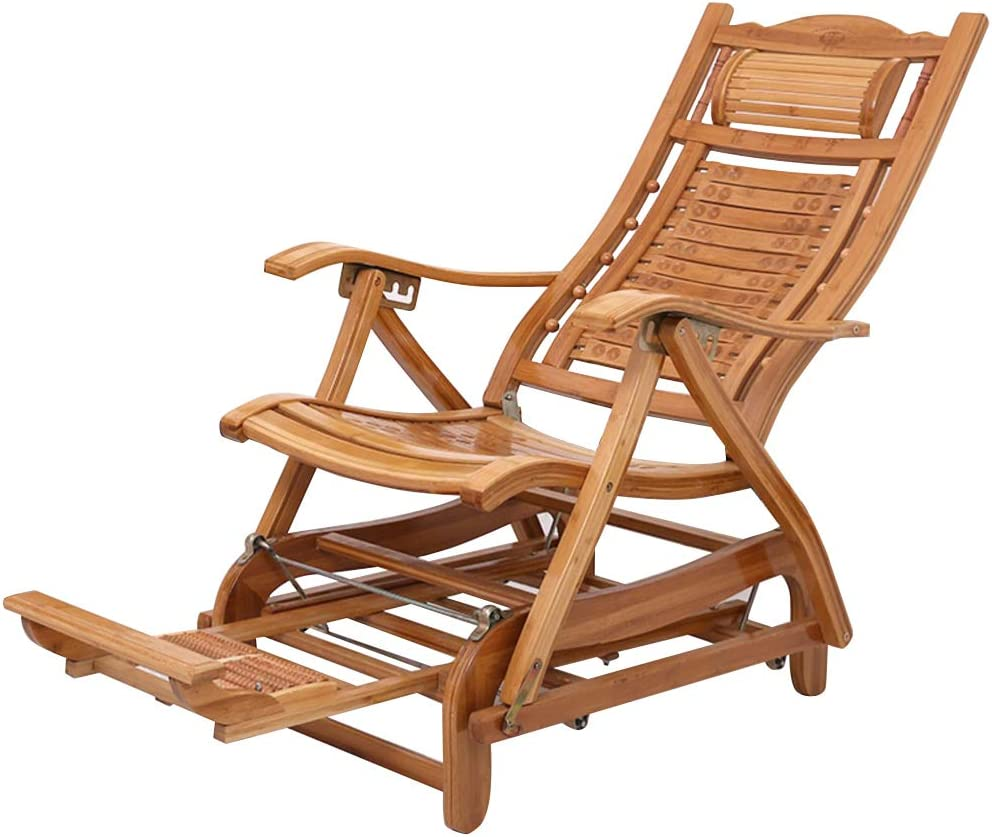 Amazon.com : LHNLY-Lounge Chairs Sun Lounger Wooden Waterproof