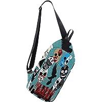 MASSIKOA Hollywood Undead Sugar Skulls Shoulder Backpack Sling Chest Crossbody Bag Travel Hiking Daypack for Men Women
