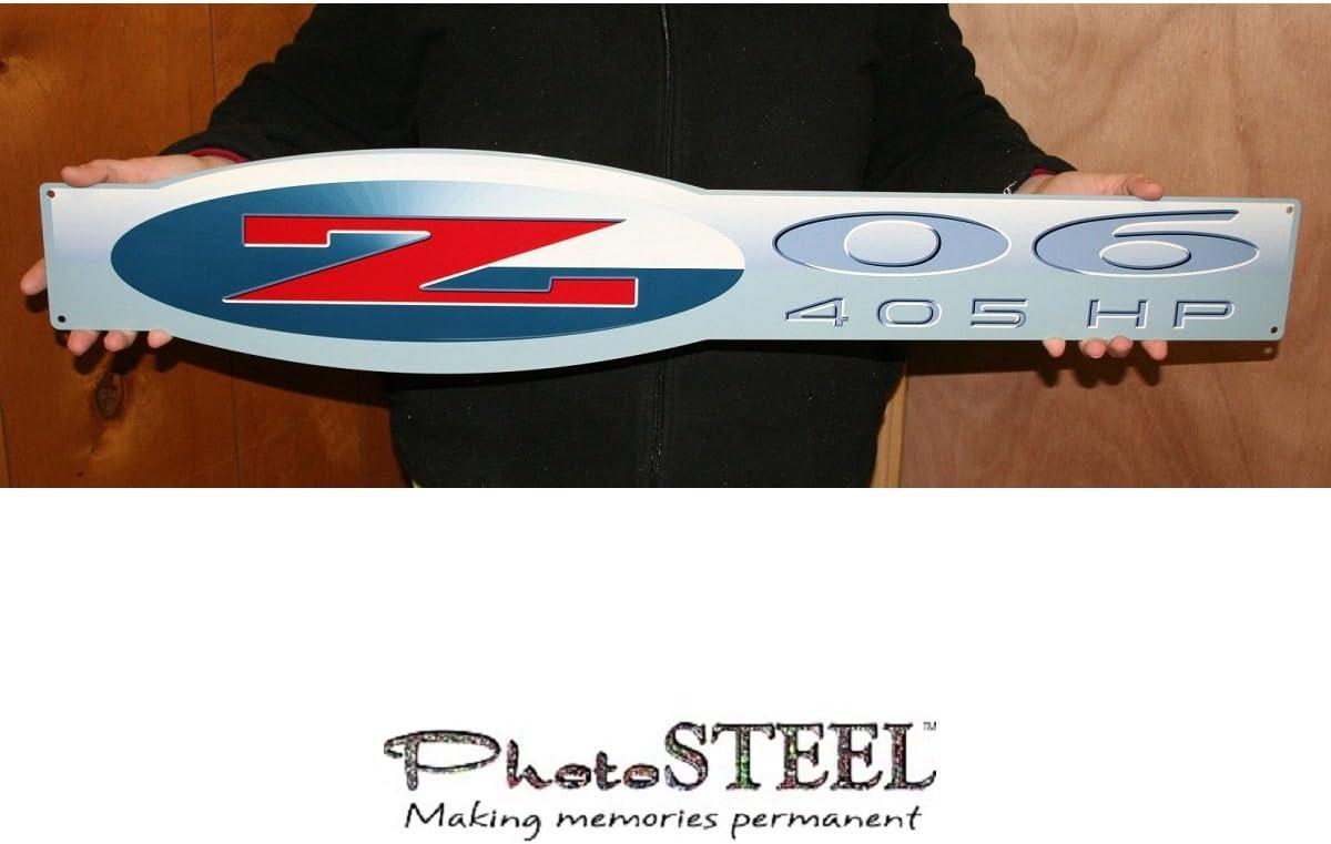 Red New Fender Emblem Z06 405HP 2002-2004 Corvette C5 Z06 Black
