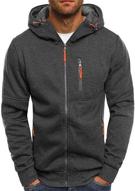 Men/'s Winter Slim Fit Sweatshirt Hoodie Warm Hooded Coat Jacket Outwear Sweater