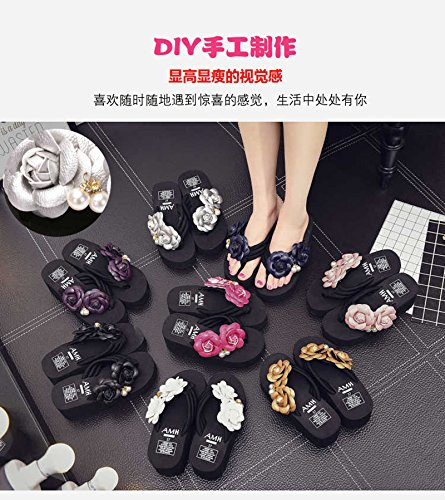 Black and High Heels Forty Sandals Bottom Ladies' Sandals Thick myldy wZq1RP