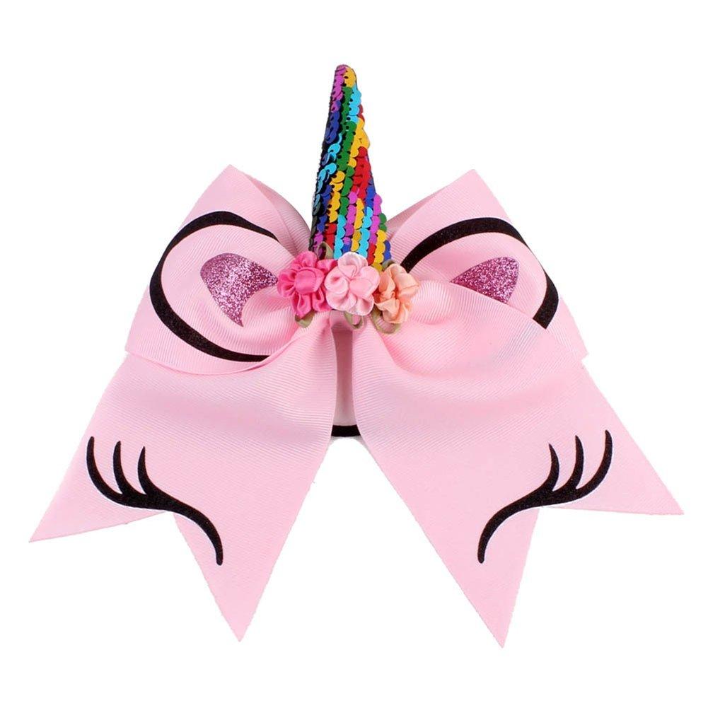 Holder Girls Rubber Band Unicorn Horn Headband Fashion Glitter Sequin
