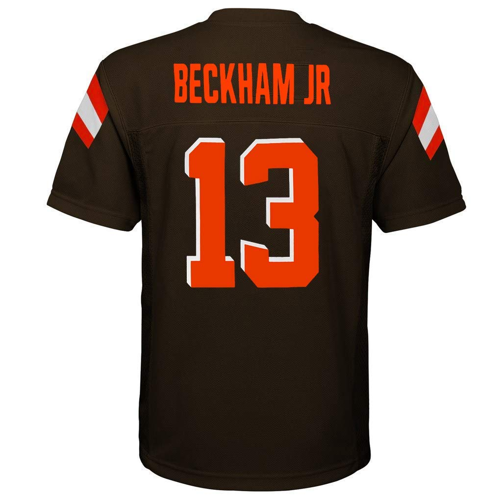 Outerstuff Odell Beckham Jr Cleveland Browns NFL Kids 4-7 Brown Home Mid-Tier Jersey