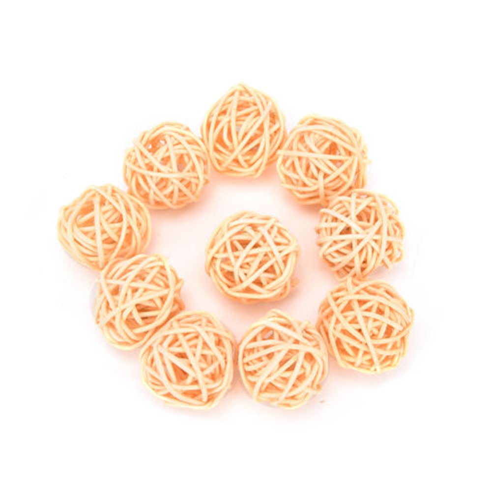 10PCS secchi rafia, wedding party hotel ornamento Craft festival Decor, Brown, 3 cm Greenlans