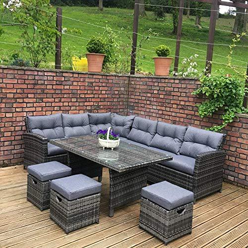 breo Rattan Garden Furniture Algarve Sofa Set