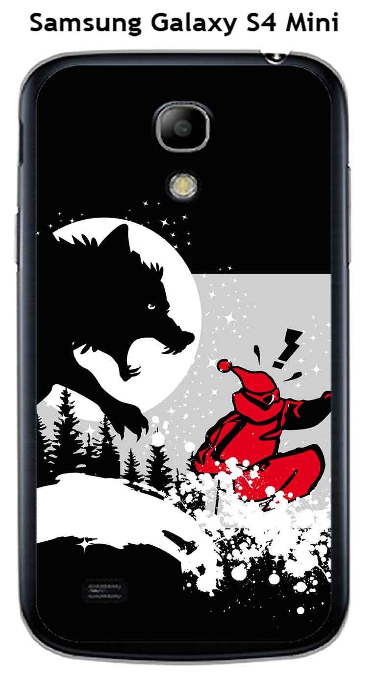 Onozo Carcasa Samsung Galaxy S4 Mini diseño Lobo: Amazon.es ...