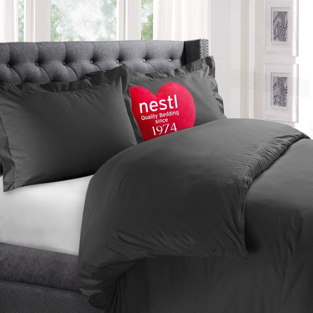 Nestl Bedding Microfiber Queen 3-Piece Duvet Cover Set