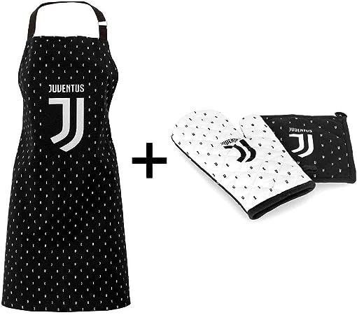 FC JUVENTUS Set Guanto da Cucina da Forno Barbecue in Cotone pi/ù presina Ufficiale