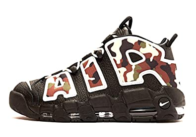 Nike Air More Uptempo 96 QS CJ6122 001 Black Sail LT British Tan Asparagus Camouflage