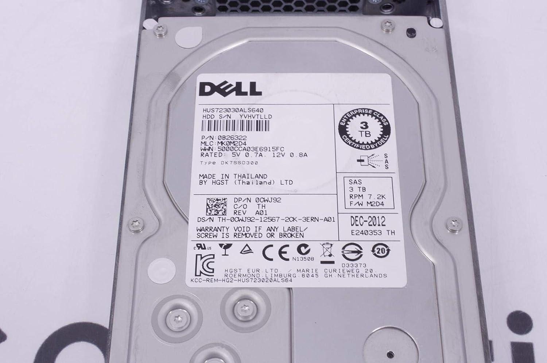Dell CWJ92 3TB 7.2K RPM 6Gb//s 3.5 SAS HD