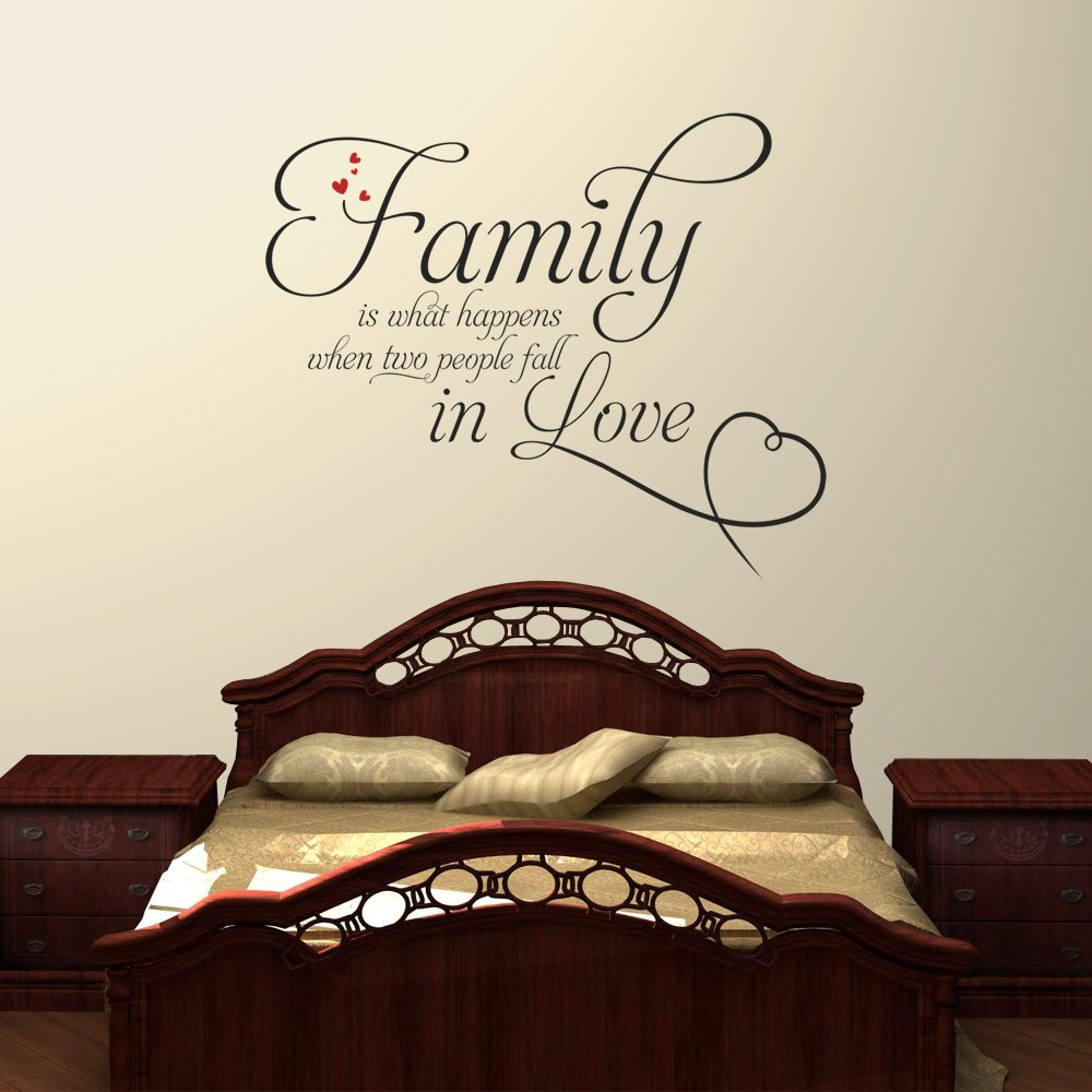 Family is what happens 2 wall decal quote sticker lounge living family is what happens 2 wall decal quote sticker lounge living room kitchen dining bedroom small amazon kitchen home amipublicfo Images