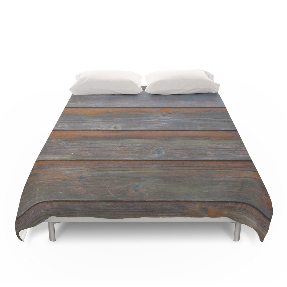 Society6 Rustic Wood Panel Boards Aged In Wyoming Duvet Covers Full: 79'' x 79''