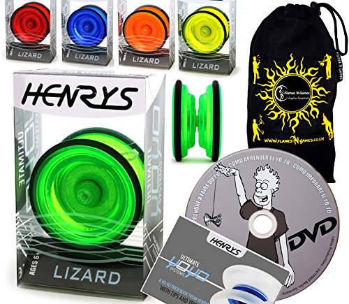 Henrys LIZARD YoYo - Professional Yo-Yo Set + BOOK of Tri...